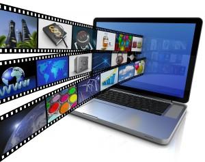 Laptop mit Film